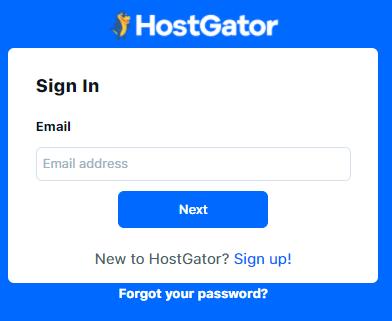 Hostgator Customer Portal Login Page
