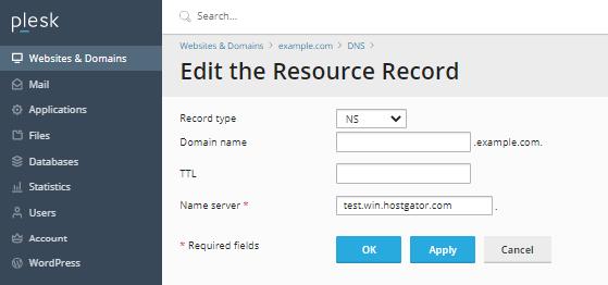 Edit DNS Resource