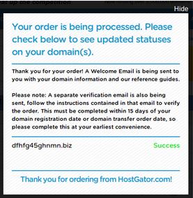 Confirm Order