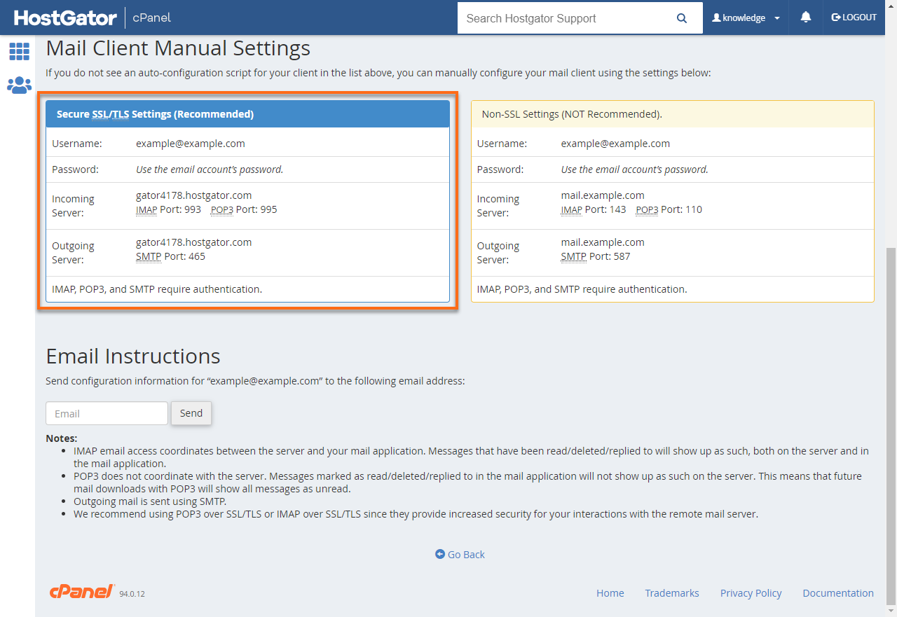 Secure SSL/TLS Settings (Recommended)