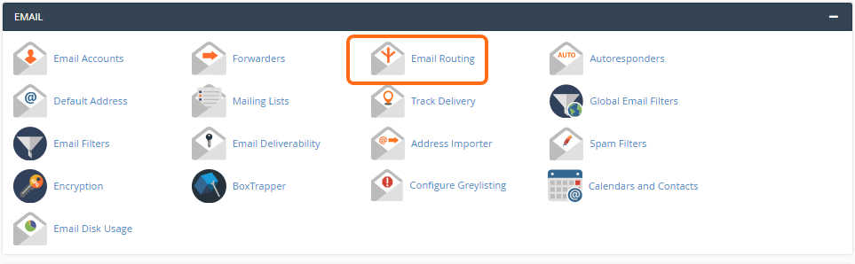 Email routing button