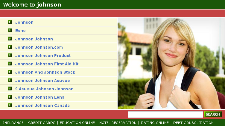 example of a website with expired domain name