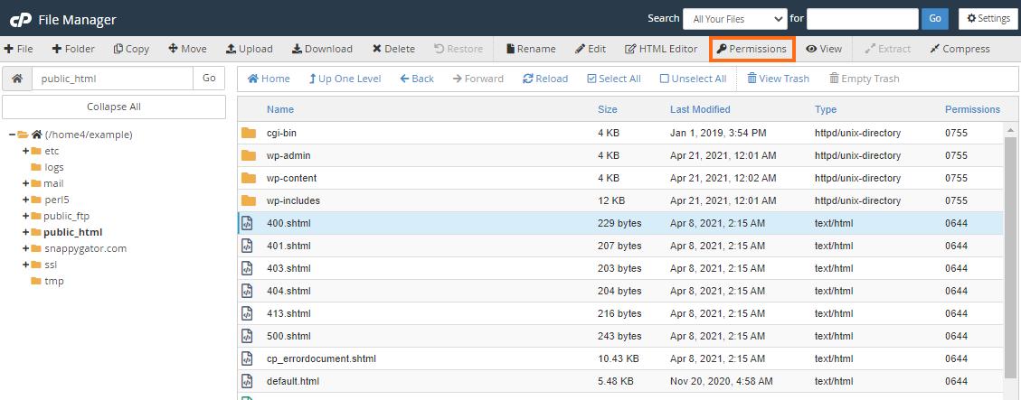 Hostgator File Manager Change File Permissions
