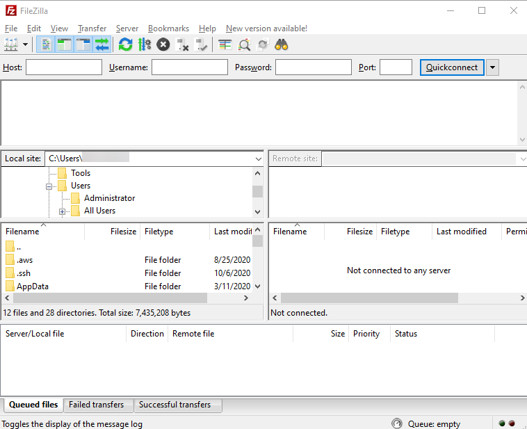 FileZilla Application