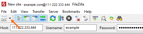 FileZilla - Site Manager