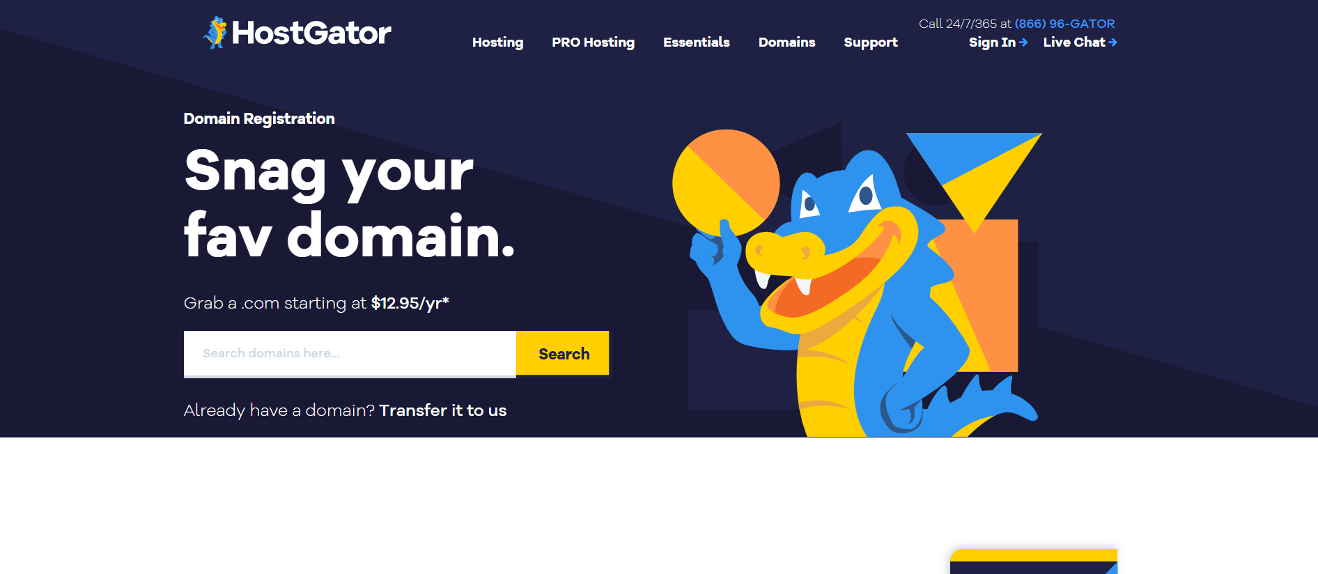 HostGator Domains - Front-of-Site