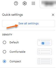 Gmail - Settings icon