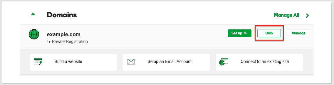 GoDaddy Private Name Servers | HostGator Support