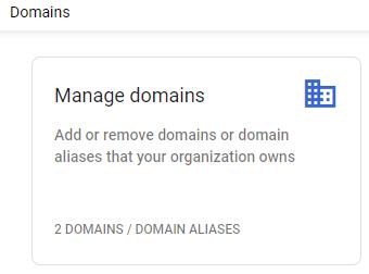 Google Workspace Manage Domains