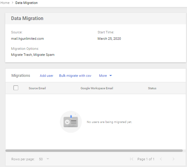Google Workspace - Data Migration