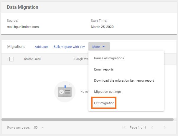 Google Workspace - Exit Migration