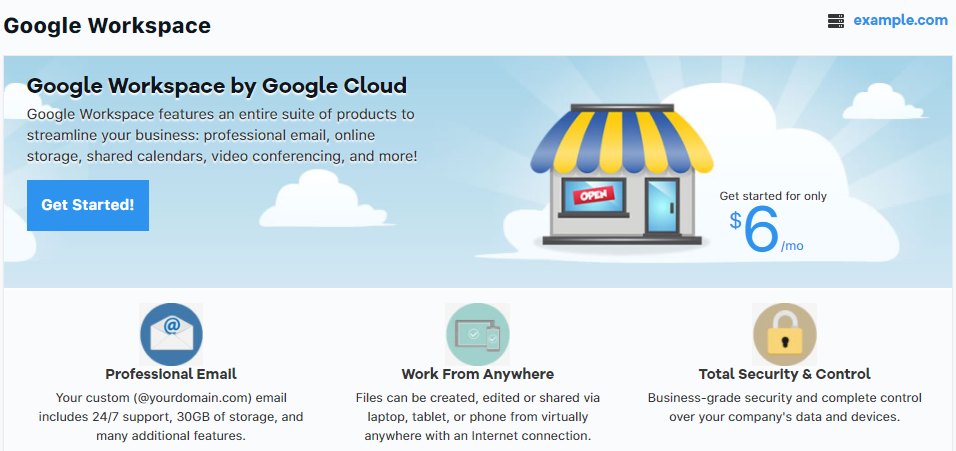 Google Workspace Learn More Page