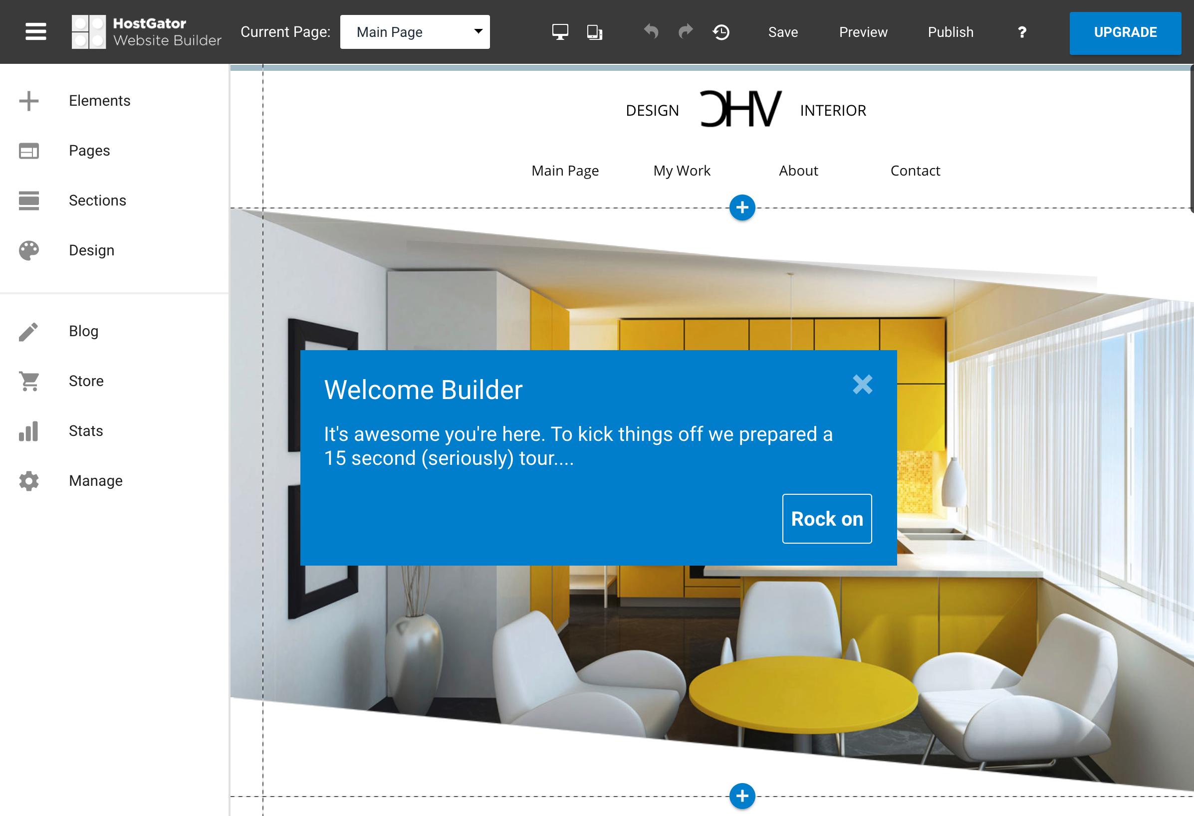 HostGator Website Builder Getting Started Tour