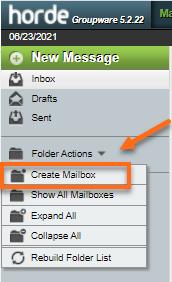 Horde Folder Actions