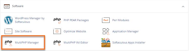HostGator cPanel MultiPHP Manager