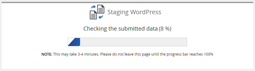 cPanel - Softaculous Apps Installer - Building Staging Progress Bar