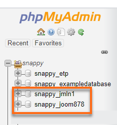 Joomla Database Names