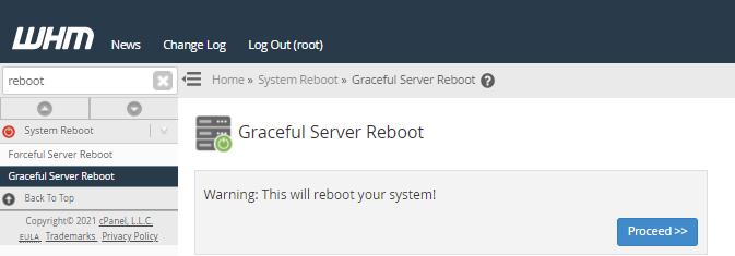 Graceful Reboot