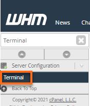 WHM Terminal