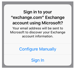 Sign in to Exchange email account