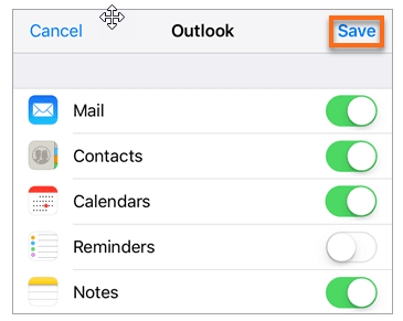 iOS Mail App options to sync with Office 365 email
