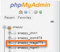Magento Database Name