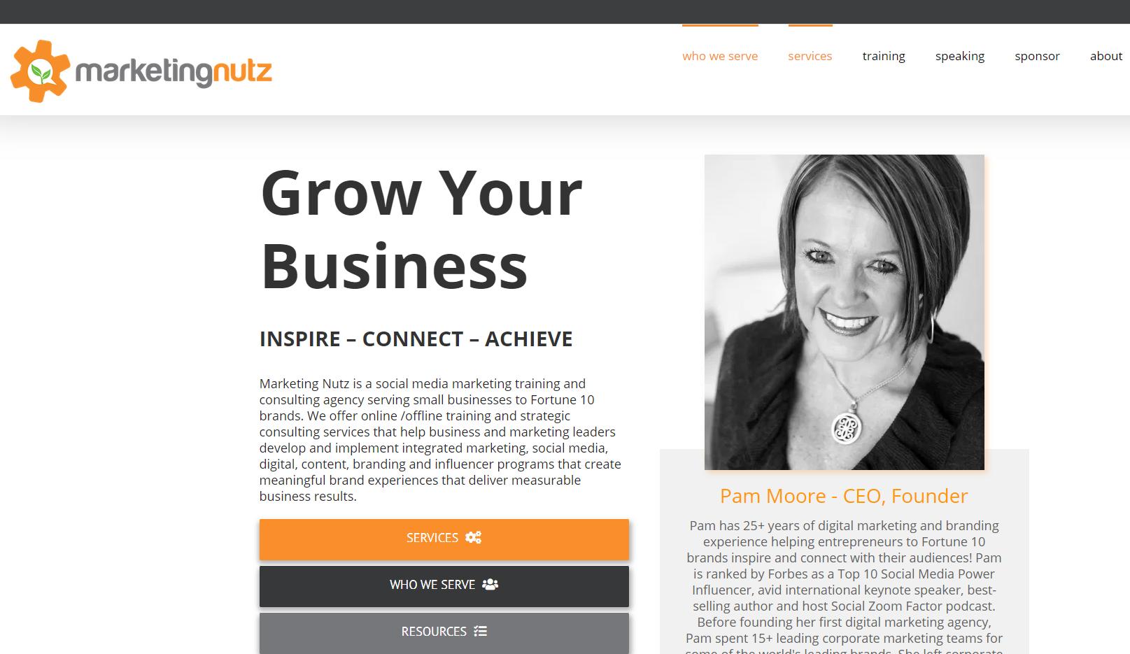 The Marketing Nutz Website