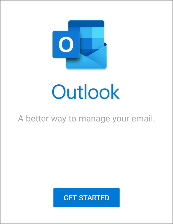 Outlook Android App Get Started Screenshot