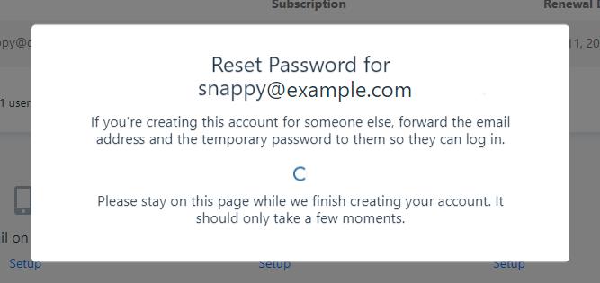 Office 365 User Password Reset In Progress