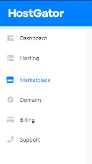 HostGator Control Panel Marketplace Link