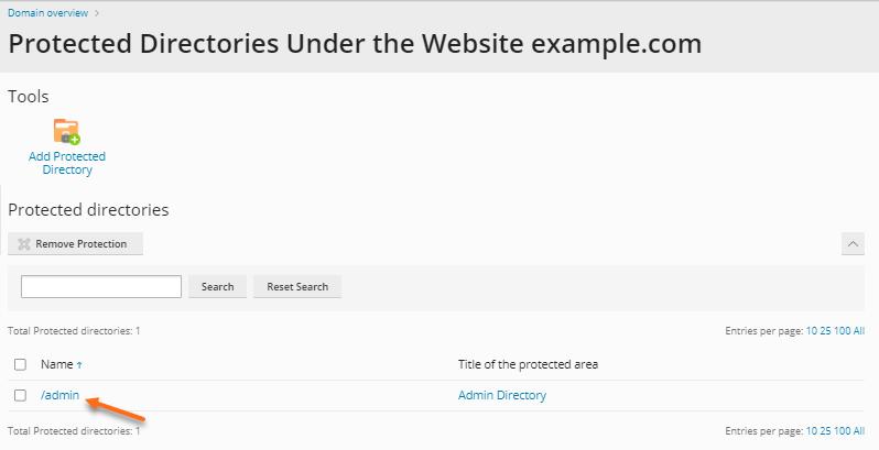 Plesk - Set Directory