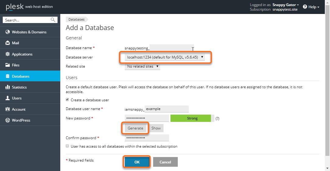 Add Database Form