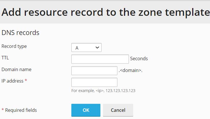 HostGator - Plesk Add DNS Record