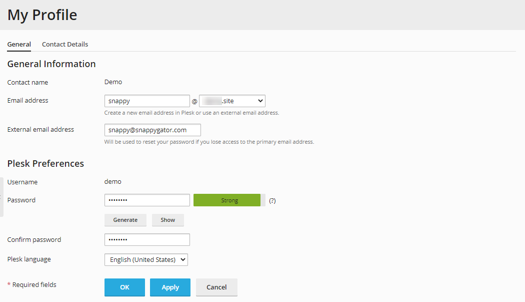 Plesk - To change your password for access to the Customer Panel