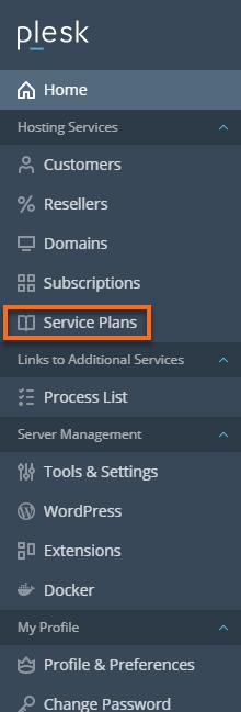 HostGator Plesk - Service Plans