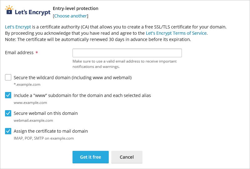 Plesk - SSL/TLS Certificates Install Settings
