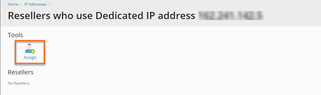 Plesk To Assign an IP Address