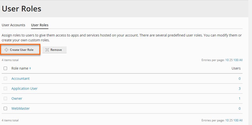 HostGators Plesk - Create Users Roles