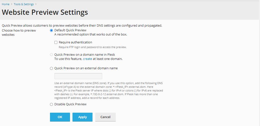 HostGator - Plesk Website Preview