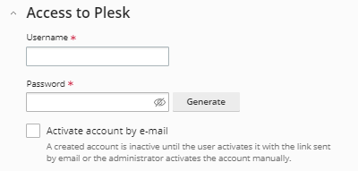 Access  to Panel settings