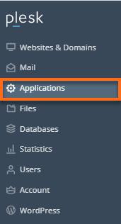 Plesk Applications tab