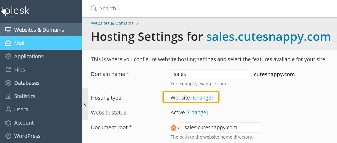 hosting type