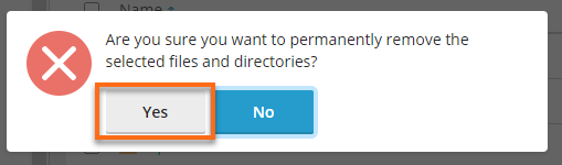 Confirm removal of a directory