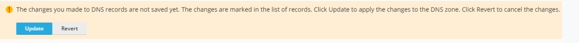 DNS zone update alert