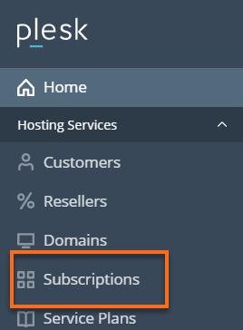 HostGator Plesk Subscriptions