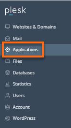 HostGator Plesk Applications tab