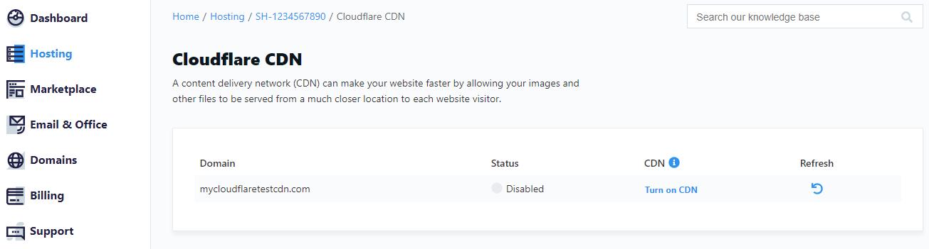 CloudFlare CDN - Inactive Status