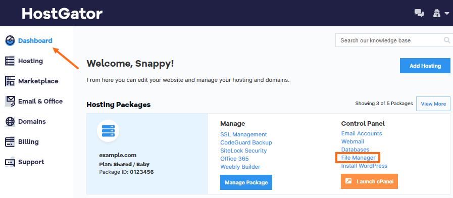 Customer Portal - File Manager