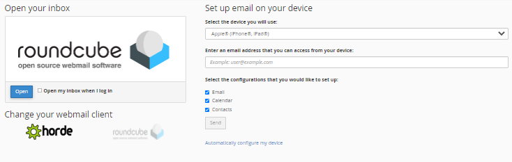 OWP - Choose Email Application