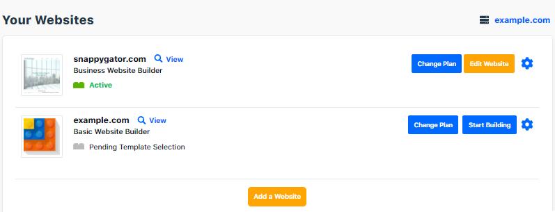 Website Builder - Edit Website
